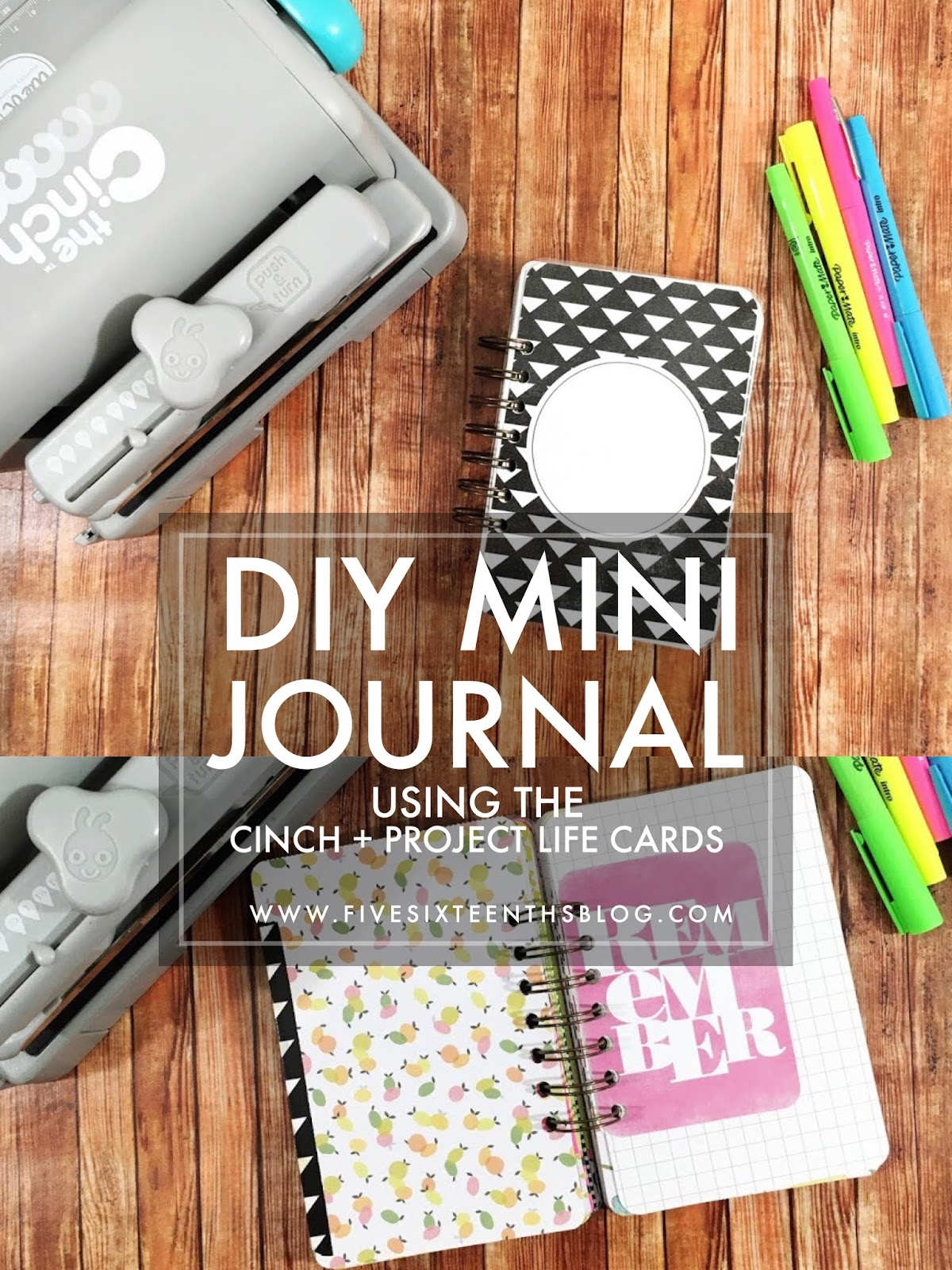 Mini Journal DIY with the Cinch