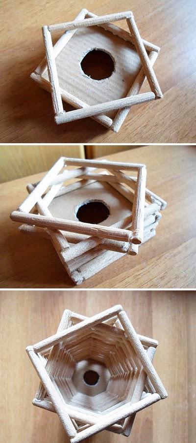 Haz una lmpara decorativa con palitos de madera  lodijoella