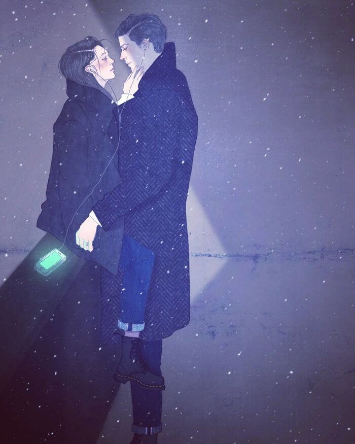 22 Beautiful Illustrations That Prove The Magic Of Love - Living Our Winter Wonderland