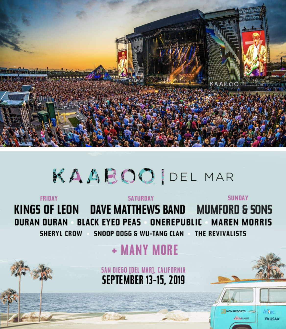 Enter to win 2 three-day HANG LOOSE tickets to KAABOO Del Mar 2019!