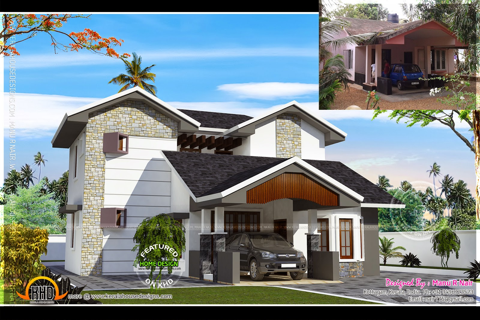 House Renovation In Ettumanoor, Kerala