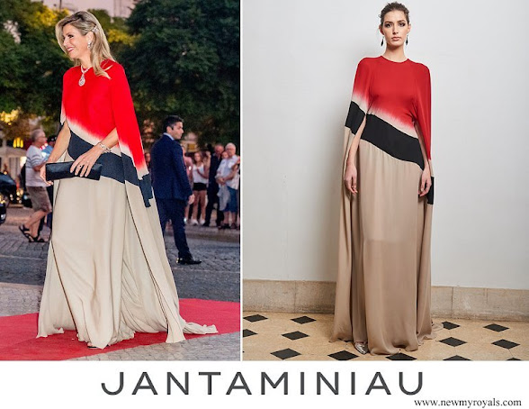 Queen Maxima wore Jan Taminiau caftan from Modern Camouflage collection