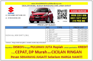 Suzuki Swift Bandung 2016, Harga Suzuki Swift 2016, Kredit Suzuki Swift 2016