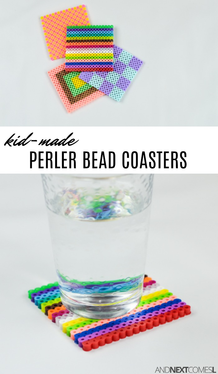 kid made coasters diy gift idea perler bead coasters and next comes l 2273