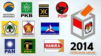 Daftar Partai Politik Pemilu 2014 dan Nomor Urutnya