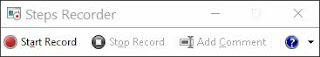 Start Record - Steps Recorder