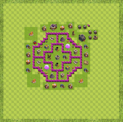 War Base Town Hall Level 10 By anonymous (The layout TH 10 Layout)