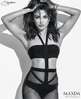 Priyanka Chopra in a black bikini for Maxim June 2016