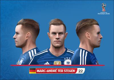 PES 6 Faces Marc-André ter Stegen by Alegor