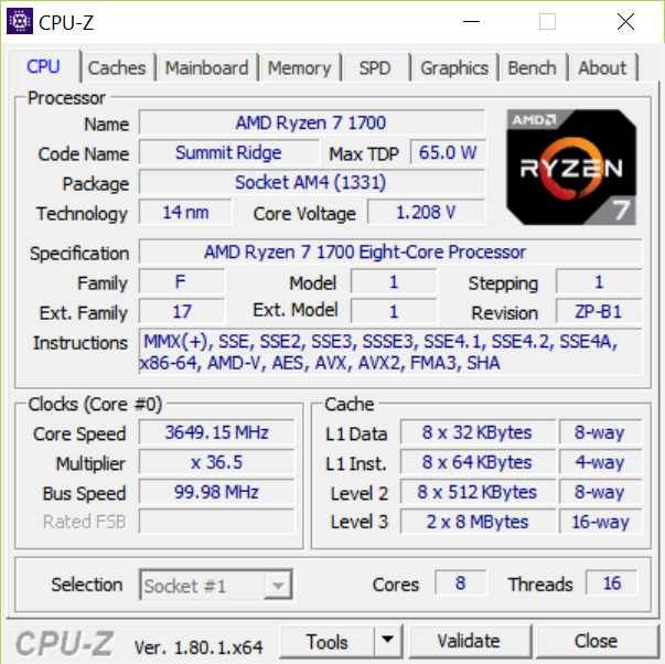 Archimago's Musings: HOWTO: AMD Ryzen 7 1700 overclocking to