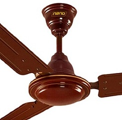 Khaitan Nano Brown Metal 3-blades Ceiling Fan for Rs.1009 Only @ Pepperfry