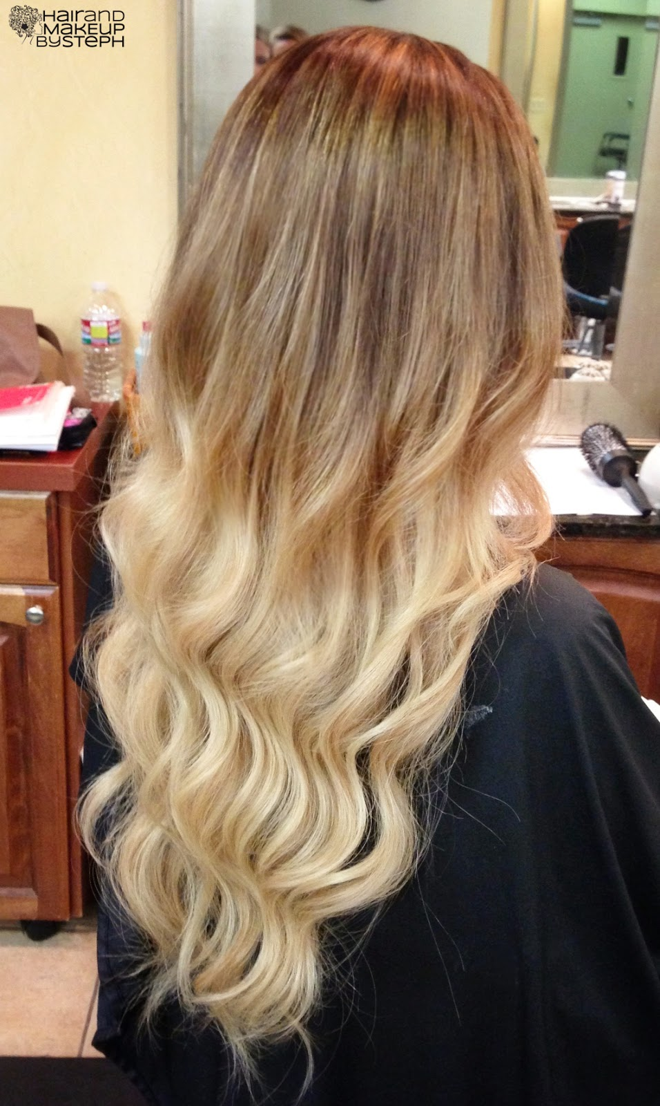 Dip Dye Natural Curly Hair