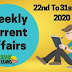 Weekly Current Affairs 22nd To 31st May 2020