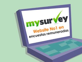 Gana dinero haciendo encuestas en MySurvey