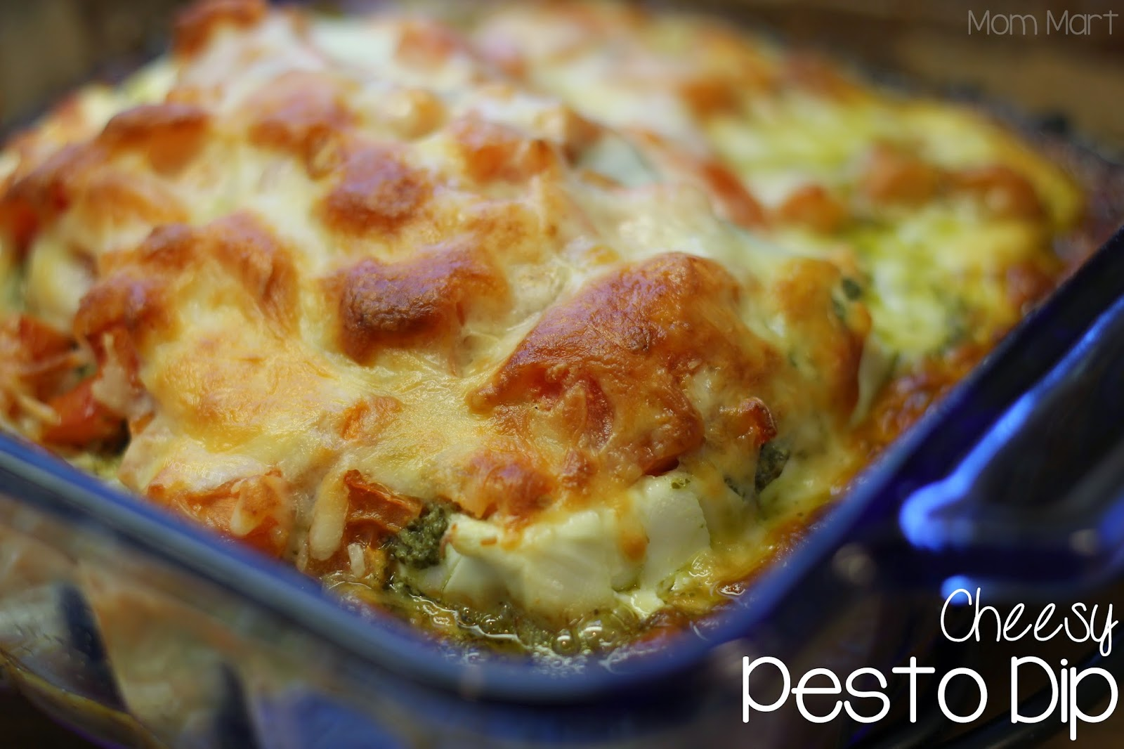 Cheesy Pesto Dip Recipe #Appetizer #Recipe #YUM #Foodie