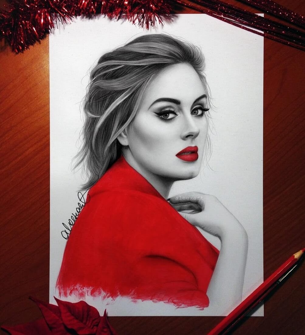 03-Adele-Alex-Manole-Celebrities-Drawn-in-Realistic-Portraits-www-designstack-co