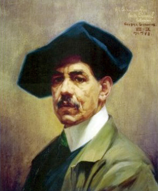 Germán Gedovius, Self Portrait, Portraits of Painters, Fine arts, Portraits of painters blog, Paintings of Germán Gedovius, Painter Germán Gedovius