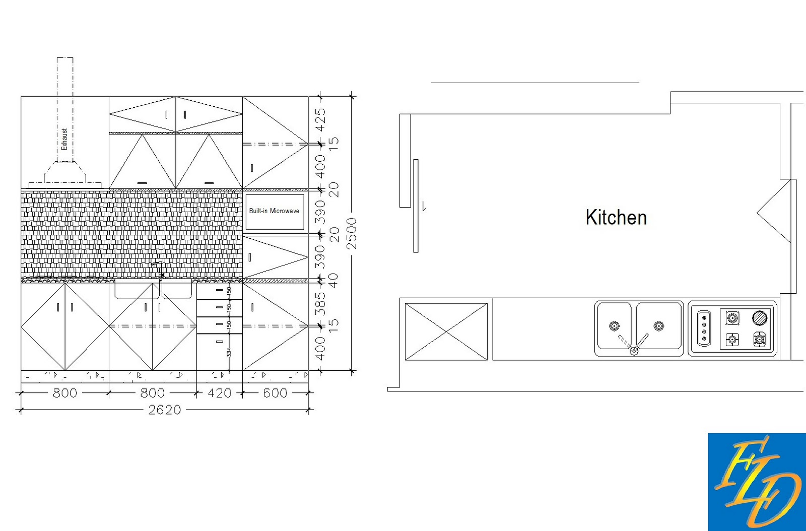 Freelance Drafting Kitchen Detail