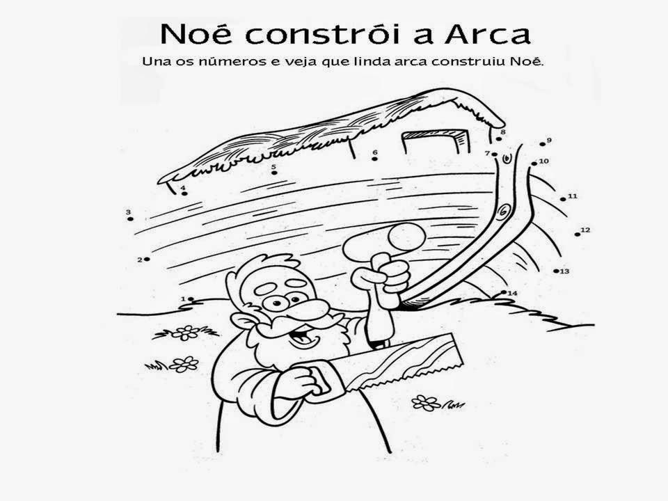 Arca De Nóe Para Colorir: Amiguinhos De Jesus: Desenho Da Arca De Noé E O Dilúvio