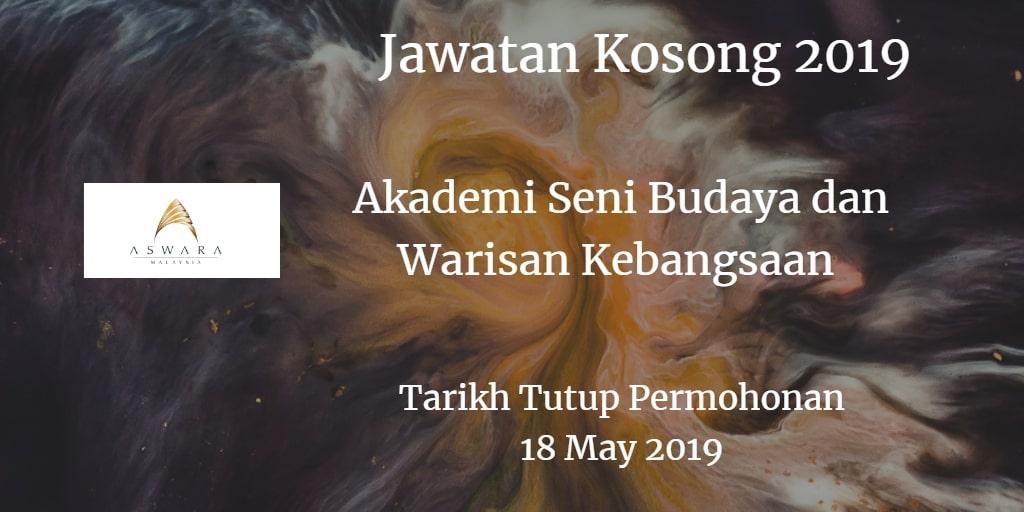 Jawatan Kosong ASWARA 18 May 2019