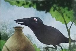 Cerita Dongeng Hewan - Burung Gagak Dan Kendi Air