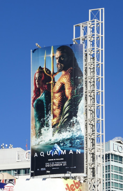Aquaman Mera billboard