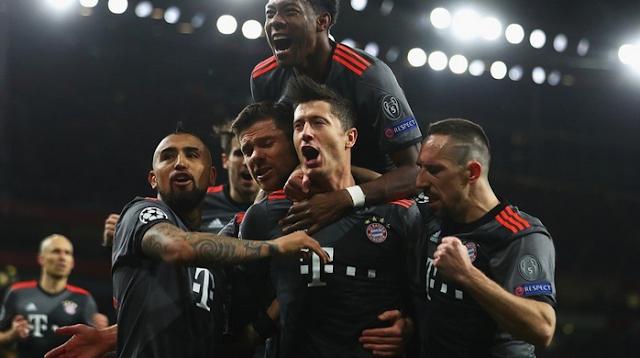 Aggregate: Arsenal 2-10 Bayern Munich Liga Champions Tadi Malam, Rabu 8 Maret 2017