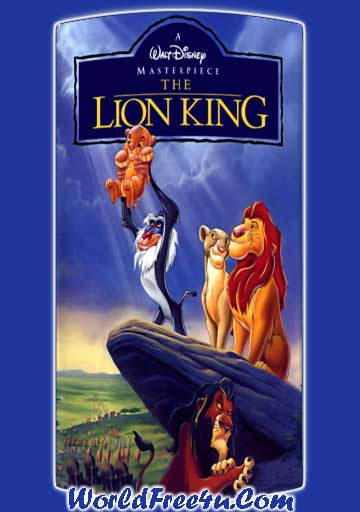 Poster Of The Lion King (1994) In Hindi English Dual Audio 300MB Compressed Small Size Pc Movie Free Download Only At worldfree4u.com