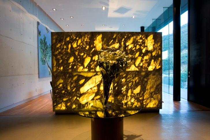 Sculpture in Modern contemporary CT House in Mexico
