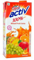 Dabur Real Activ Mixed Fruit 1L For Rs 75 (Mrp 110) Free Ship at Amazon