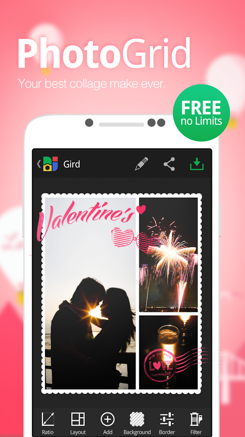 Photo Grid Collage Maker Android APK Full Version Pro Free Download