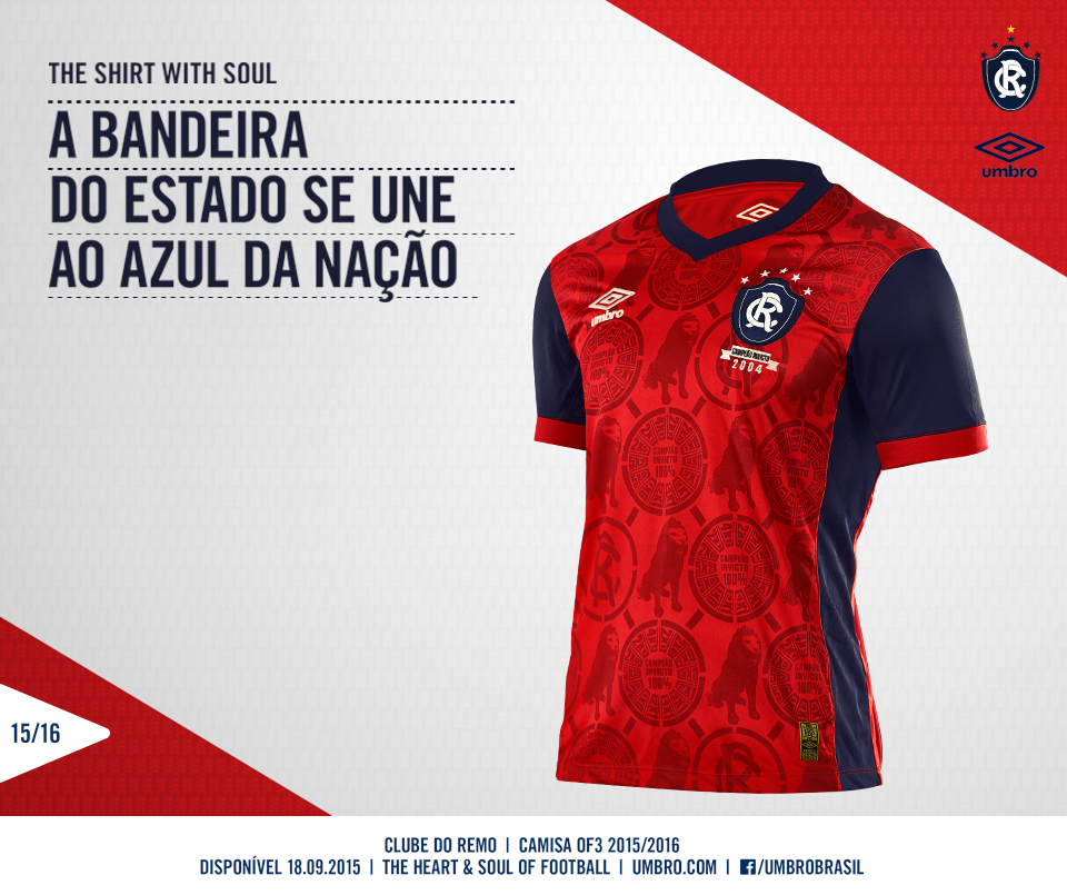 9b789f7c8d ... sobre os uniformes do Leão em 2015  http   trivela.uol.com.br novas- camisas -remo-ficaram-fantasticas-e-umbro-mostra-que-acerta-ate-quando-sai-basico