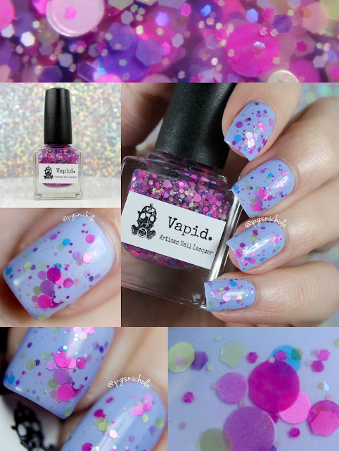 Vapid Lacquer Freckled Faerie over Wet'n'Wild Breeze on By