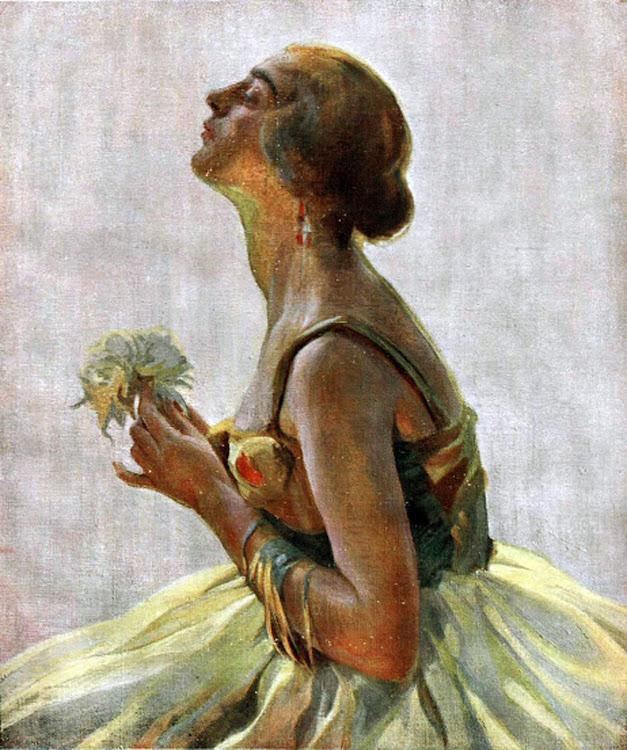 La apasionada, Dama de perfil, Francisco Pons Arnau, Pintor español, Pintor Valenciano, Pintura Valenciana, Impresionismo Valenciano, Pintor Pons Arnau, Retratos de Pons Arnau