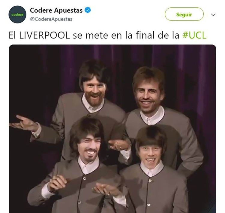Meme Vignette Divertenti eliminazione Barcellona a Liverpool Foto 10.