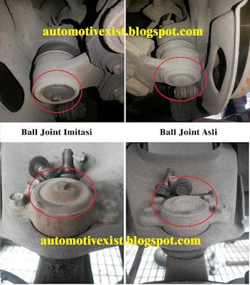 ciri ball joint sejati atau palsu
