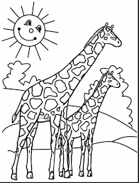 Baby Giraffe Coloring Sheet For  Kids