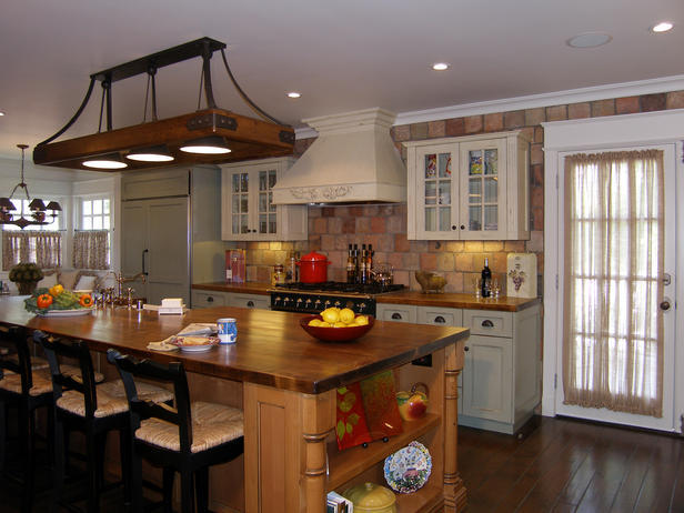French Country Kitchen - conventional - kitchen - san diego - by - French Country Island Light Fixture