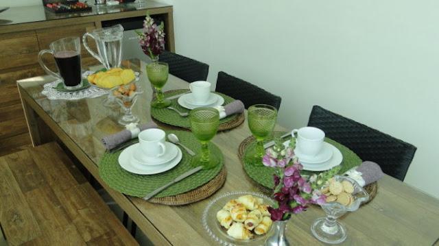 10 mesas postas em tons de verde maravilhosas