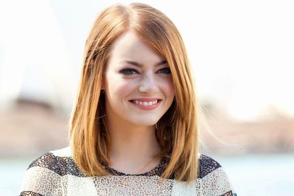Emma Stone Mid-Length Bob Hairstyle Picture