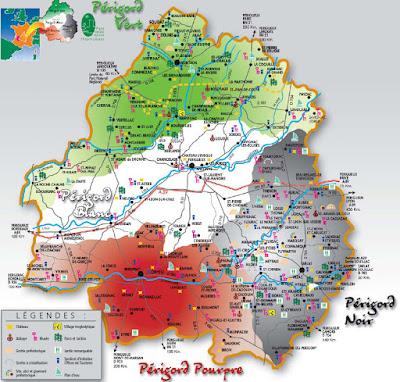 Mapa Périgord