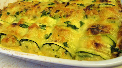 Roladice od tikvica, riže i sira / Zucchini rolls with rice and cheese