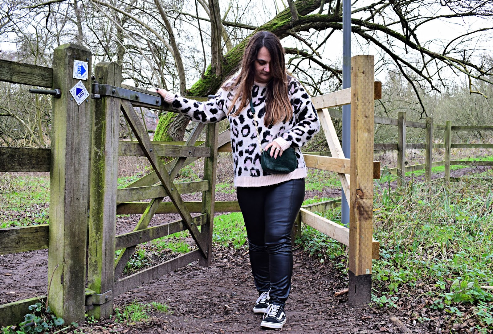 Faux leather trousers for casual days
