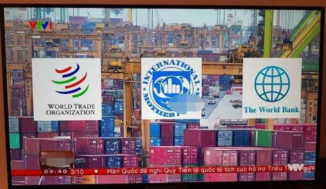 Vừa qua, VTV nhầm logo IMF