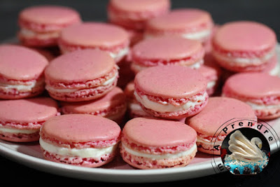 Macarons à la rose (pas à pas en photos)