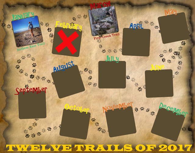 Twelve Trails of 2017 - March