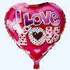 Balon Foil Hati Motif I LOVE YOU / Balon Foil I LOVE YOU (01)