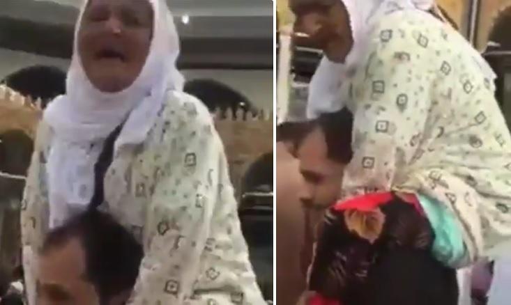 pemuda ini gendong ibunya untuk tunaikan haji
