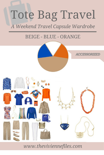 A Capsule Wardrobe in Beige, Bright Blue and Orange: Expanding Your Accessories