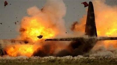 سقوط طائرة عسكرية - أرشيفية